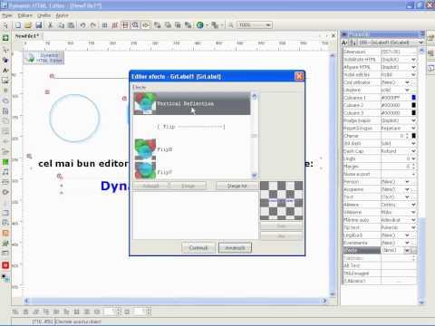 cel mai bun editor de siteuri - Dynamic HTML Editor