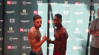 ULTIMATE BOXXER 5 OFFICIAL QUARTER-FINAL WEIGH-INS & HEAD-TO-HEADS FROM BXR LONDON
