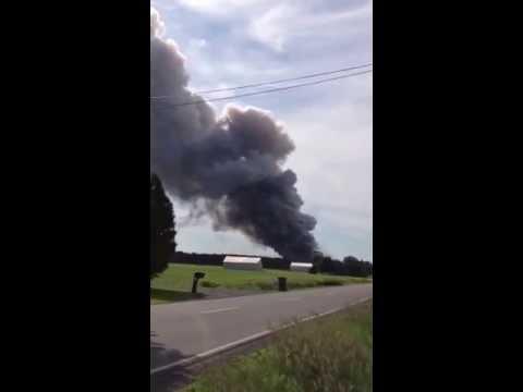 BEM Fireworks near Montreal, Quebec plant destroyed.