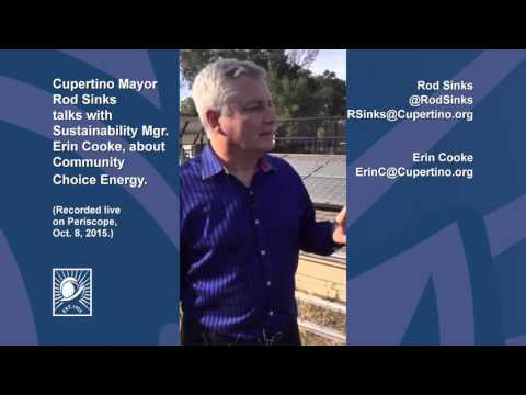 Mayor Rod Sinks' Live Periscope Session on Community Choice Energy -10/08/15