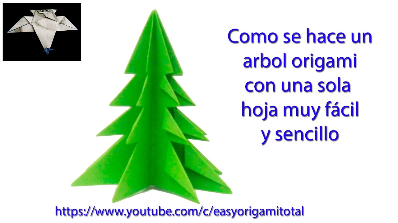 Como hacer un arbol de navidad muy sencillo y r pido easy - Arbol de navidad sencillo ...
