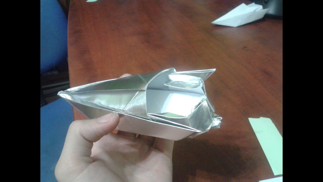 Shinyorigami como hacer una lancha motora de papel youtube - Como hacer un estor enrollable paso a paso ...