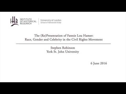 The (Re)Presentation of Fannie Lou Hamer: Race, Gender and Celebrity in the Civil Rights Movement