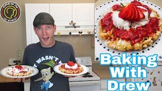 How to Make Homemade  Disney Funnel Cakes - A Simple Recipe!!