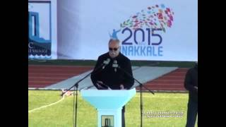 Çanakkale belediye başkanı Ülgür Gökhan'ın 100  Yıl Tören Konuşması