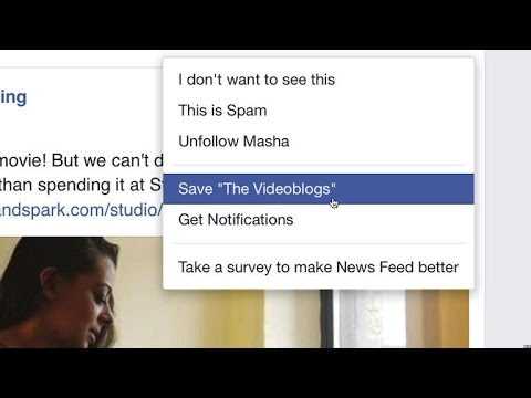 Save links on Facebook