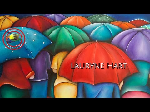 Fine Art Show with Lauryne Hart with her wonderful colourful large paintings on Colour In Your Life