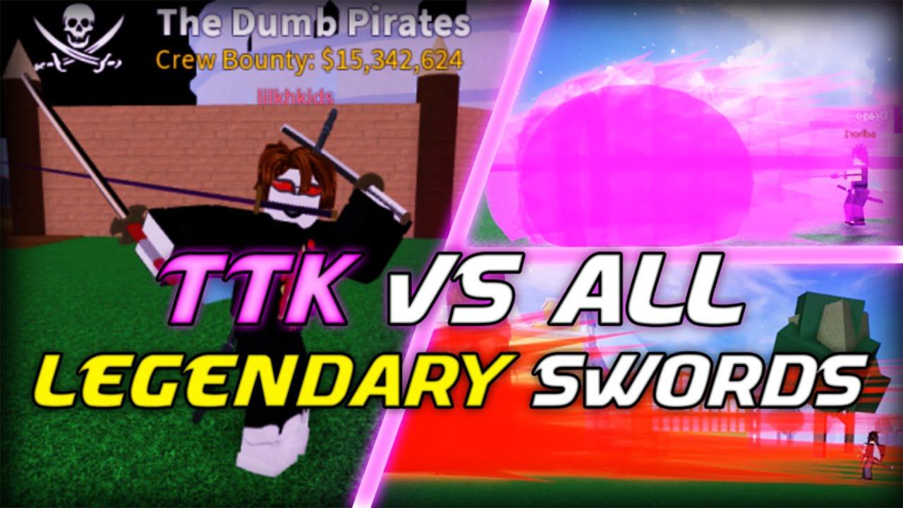 True triple katana vs all legendary swords in Blox Fruits !