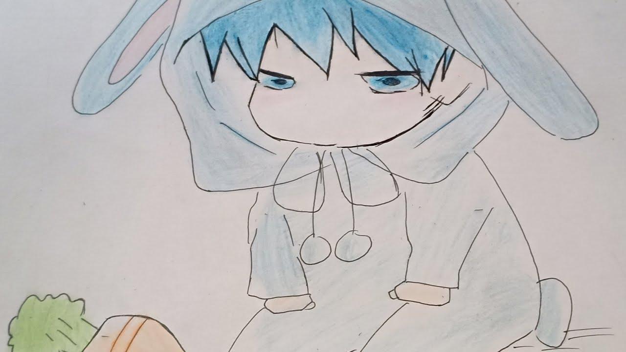 – Vẽ Anime Chibi Bé Thỏ Cute | Pusheen Art |