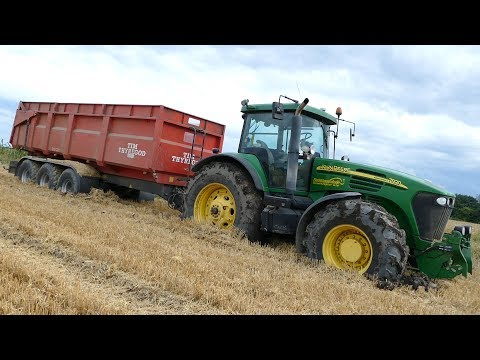 John Deere 7920 Sits Tight in The Muddy Field | Gets Pulled Out by a JD 8530 | DK Agri
