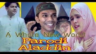 Gambar cover Parodi Aladdin - A Whole New World (Versi Sholawat) Syakir Daulay Ft Neng Nada | Reaksi Bangladeshi