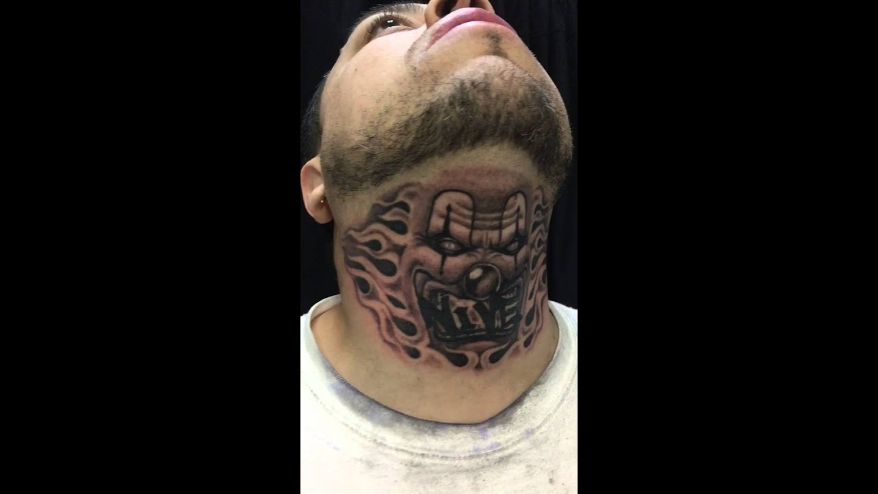 Throat Tattoo Throat Clown Tattoo By Rafael Garrido Youtube