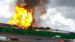 Сильный пожар на ТЭЦ-27 в Мытищах