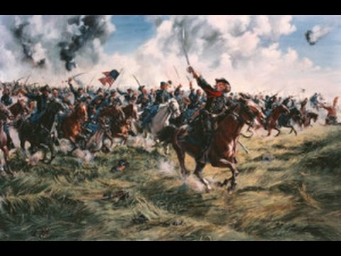 Custer's charge at Gettysburg - Charge de Custer à Gettysburg (July 3 1863)