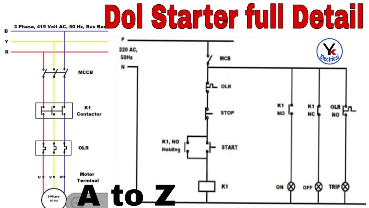 Download 36   3 Phase Dol Starter Control Wiring Diagram