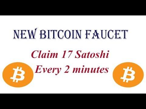 New Bitcoin Faucet - Claim 17 Satoshi - Every 2 min - YouTube