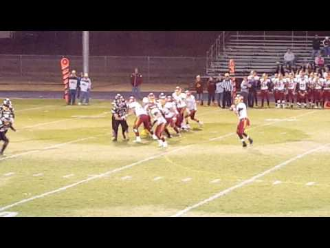 10-7-16 - Jordan Taylor catches the pass from Cade Uhrick for 7 yards
