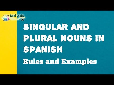 Singular And Plural Nouns In Spanish: Rules And Examples