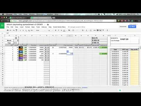 ULTIMATE ALTCOIN DAYTRADERS SPREADSHEET Demo -) (1of3)