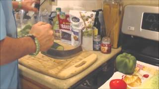 How To Easily Chop Vegetables For Salads - Using A Mezzaluna Knife