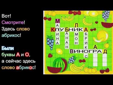 Кроссворд Фрукты ↔ Crossword Fruit   RUSSIAN 1: BEGINNER