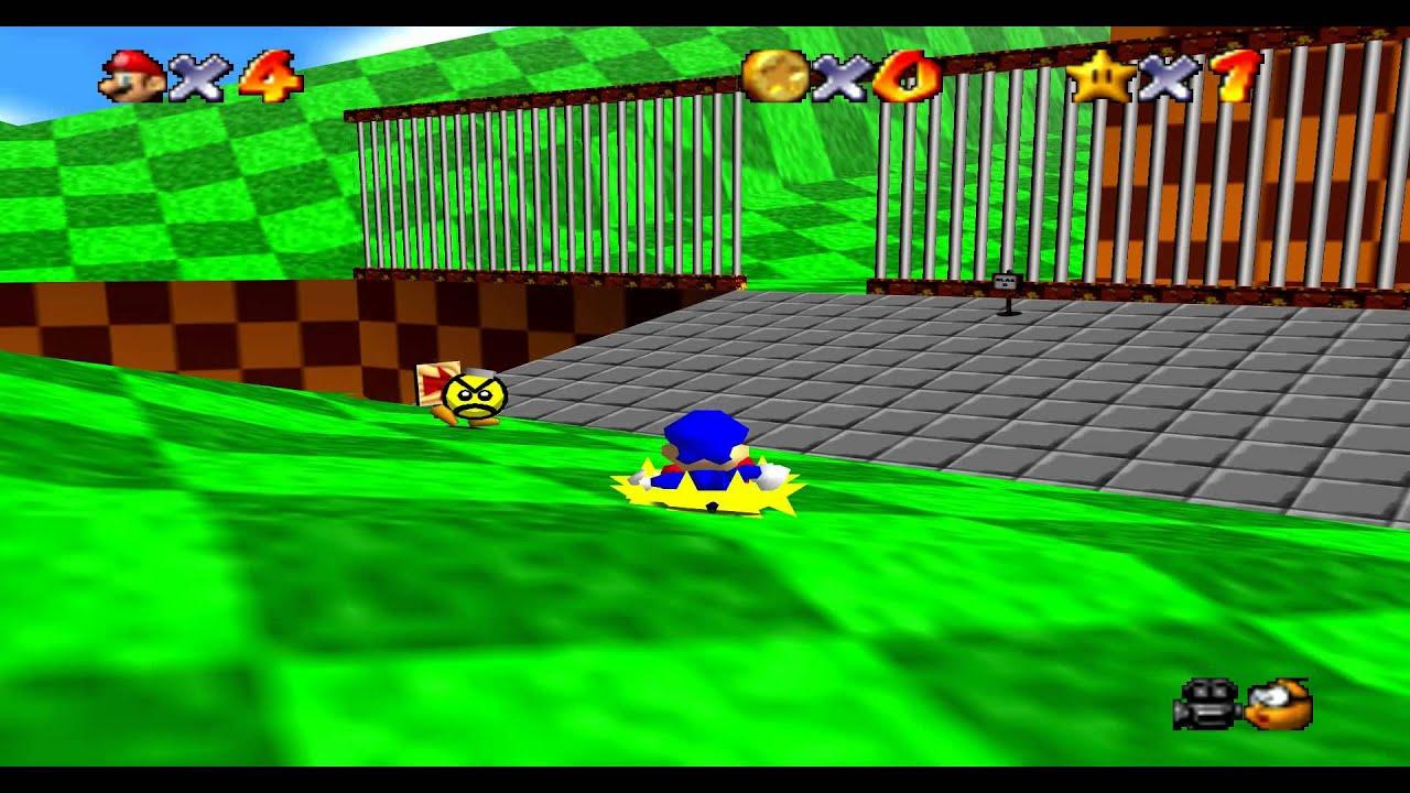 Super Sonic 64 Gameplay 1080p Super Mario 64 N64 Mod Youtube