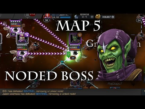 Map 5 Noded green goblin mini boss fight-Marvel Contest of Champions