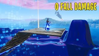 How To NOT Get FALL Damage in Fortnite! (fortnite season x glitches)