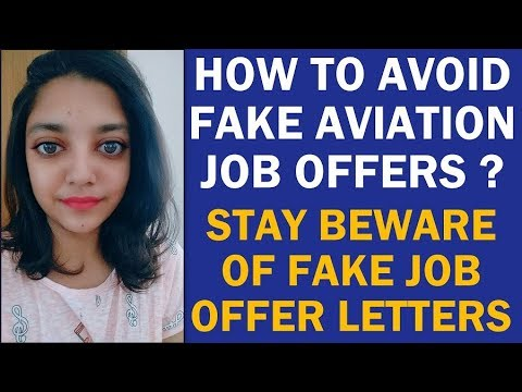 How to Avoid Fake Airport Job Offers| Beware of Fake Aviatio