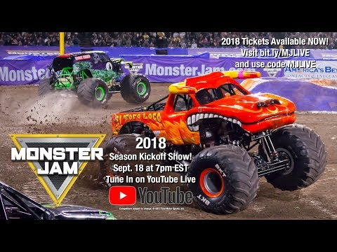monster jam 2018 season kickoff show youtube