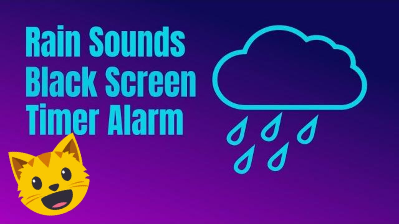 8 Hour Timer Relax Rain Sounds (Black Screen) 🔴  Countdown with 15 min Bugle Alarm @TimerClockAlarm