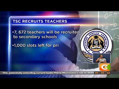 TSC advertises 8,000 teaching jobs