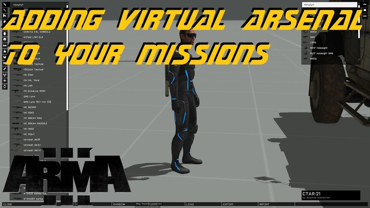 ARMA 3 Editor - Adding Virtual Arsenal to missions