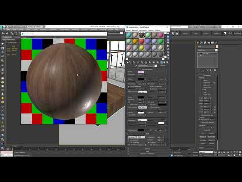 3ds Max VRay - Wood Material Maped Reflect - No Plugin - Tutorial