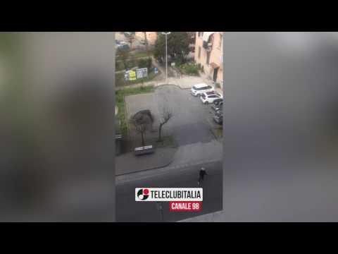 Marano, video choc della rapina in banca