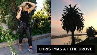 CHRISTMAS AT THE GROVE // LA NOVEMBER PART 1 // SAMGLAMM | VLOG |