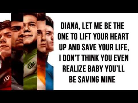 Diana - One Direction (Lyrics)