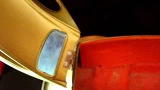Vintage 1960's Tin Vw Volkswagen Bug Music Box For Decanter Set Musical