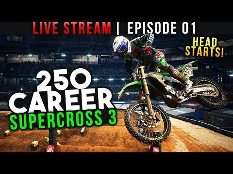 Monster Energy Supercross 3 - 250 Career Episode 1 - Head Starts!