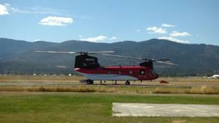 CH 47D Chinook Start up Take off