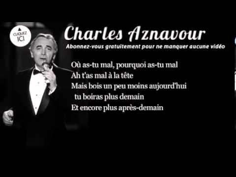 Charles Aznavour - I drink (Je bois) - YouTube