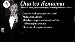 Charles Aznavour   Les deux guitares   Paroles Lyrics