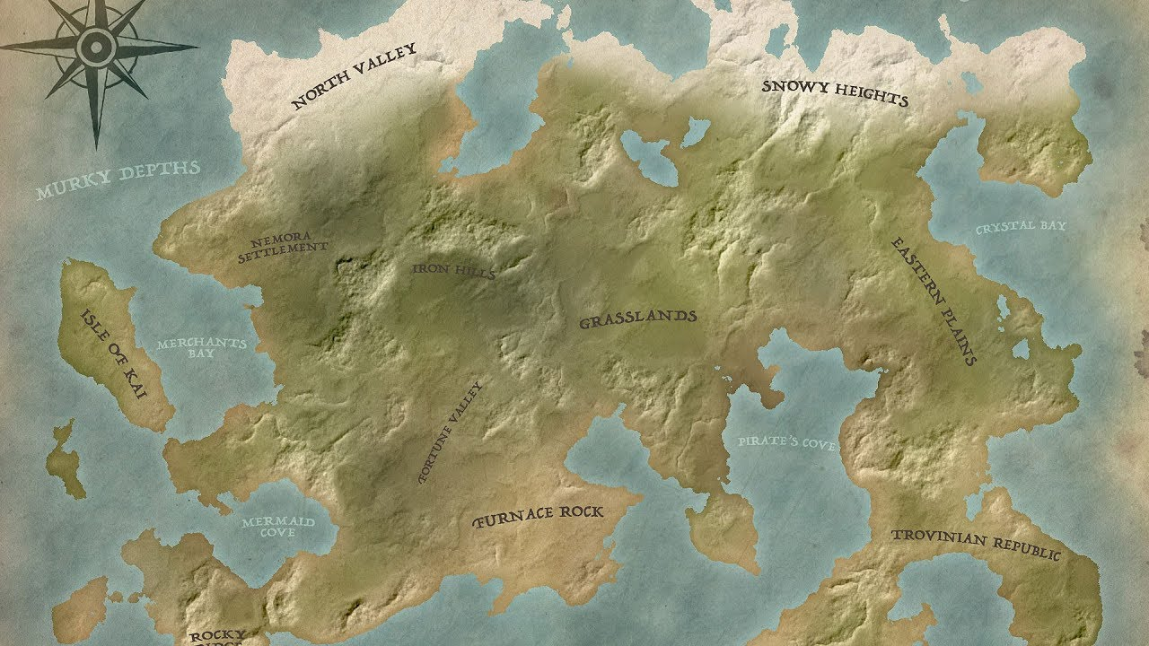 Create a Fantasy Map of Your Own Fictional World in Adobe Photoshop