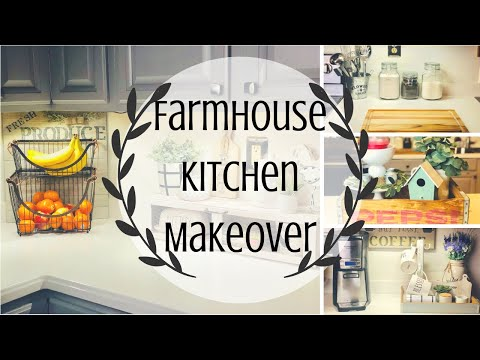 FARMHOUSE KITCHEN MAKEOVER | DECORATE WITH ME | FARMHOUSE KITCHEN | PART 1