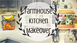 FARMHOUSE KITCHEN MAKEOVER | DECORATE WITH ME | FARMHOUSE KITCHEN | PART 1