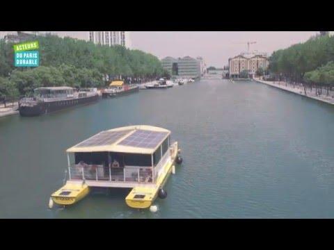 Un catamaran électro-solaire à Paris