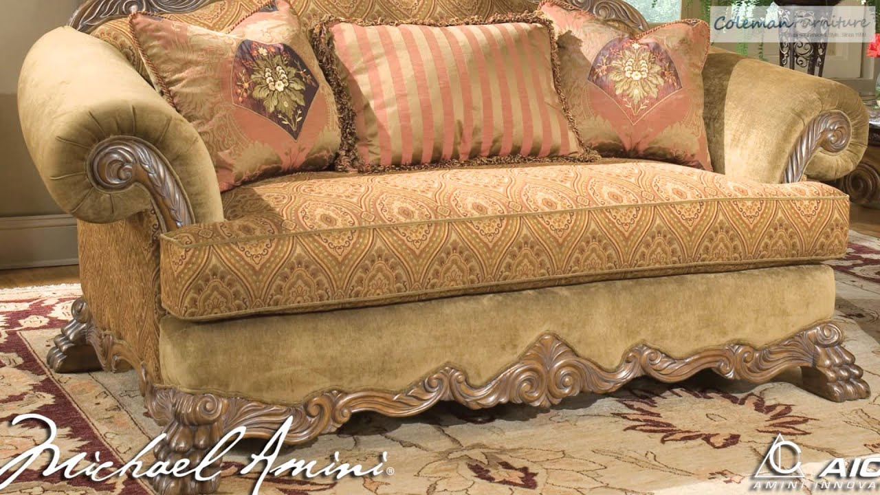Michael Amini Living Room Furniture Eden Living Room Collection From Aico Furniture Youtube