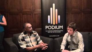Podium interview with Dr Tommie Smith at Salute film