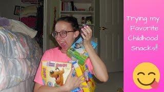 Eating My Favorite Childhood Snacks!!