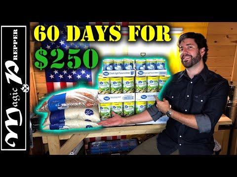Prepper Food Haul 2021 | 60 Days Of Food For $250